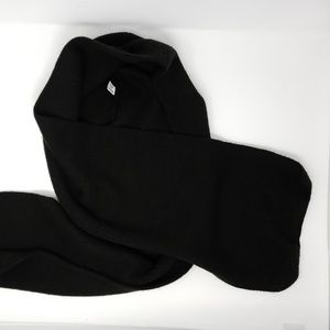 vintage black hooded scarf